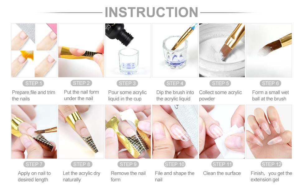 how to make acrylic nail