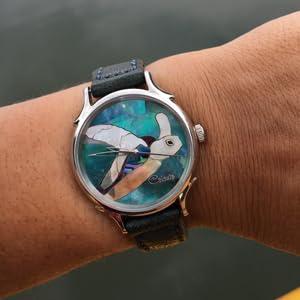 Sea Turtle Watch over ocean. Water Resistant to 30M.