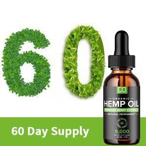 Hemp oil is given in 300mgs per bottle which means 6000mgs total