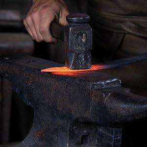 Borderland Rustic Hardware Hand forged Iron steel hardware strap hinges faux hinges corner brackets