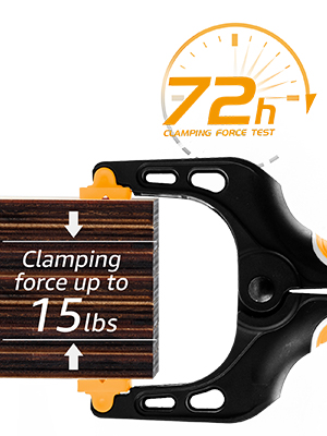 TOLESA 7-Inch Spring Clamps Powerful Force 4-Piece Nylon Clamp