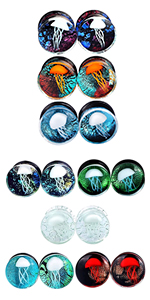 glass jellyfish plugs gauges
