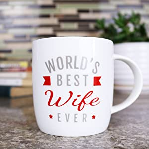 Triple Gifffted Worlds Best Wife Ever Mug For Greatest Women Appreciation Gift Romantic Birthday Gifts Ideas For Her From Husband Anniversary Valentines Mothers Day Mugs Christmas Coffee Cup Kitchen Dining
