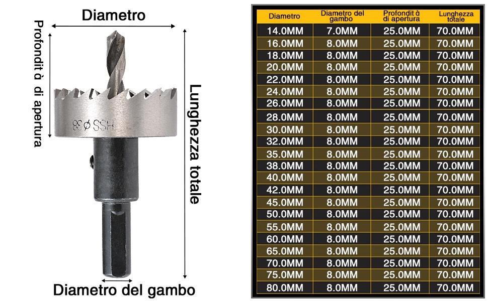 Draper Expert 41597 24 mm-Punte per legno piatto