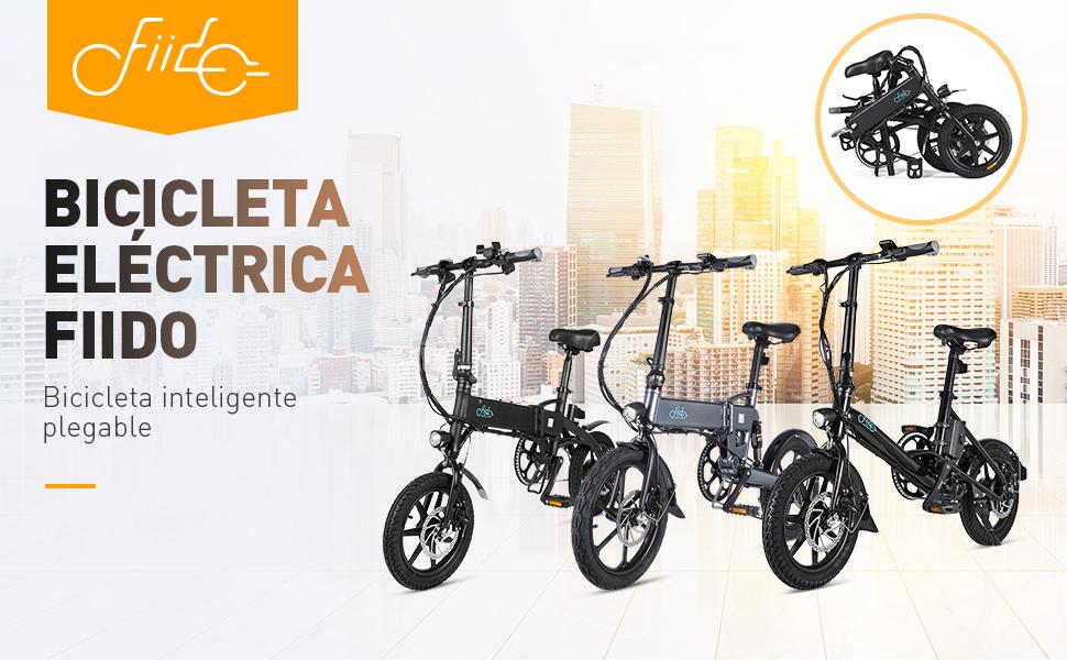 """FIIDO D2/D2S Bicicleta Eléctrica Plegable, 7.8Ah 36V E-Bike 250W con 25km/h de Velocidad Ajustable para Unisex Adulto, Faro LED Delantero Incluido y Ruedas de 16"""": Amazon.es: Deportes y aire libre"""