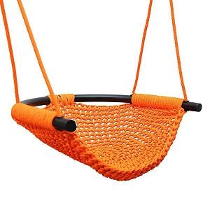 新品 LUVIN Swing for Infants Outdoor Indoor Swing for Kids with Safety Bar Adjustable Rope for