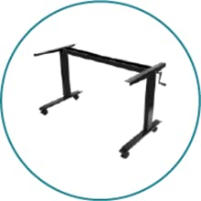 Sturdy steel frame black stand up desk store all metal durable coated