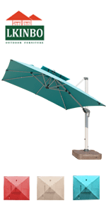 9 ft hanging outdoor umbrella red