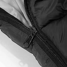 sleeping bag zipper