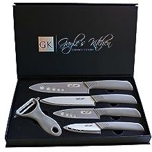Grey 5-Piece Ceramic Knife Set