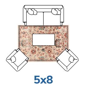 Well Woven bohemian 5x7 5x8 rugs.