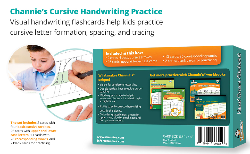 Cursive Handwriting Practice Visual handwriting flashcards help kids practice cursive letter