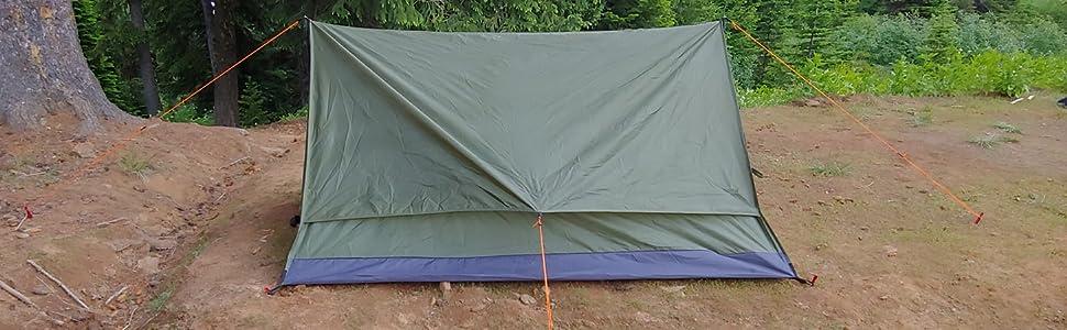 trekking pole tent, easy setup tent, backpacking, backpacking tent, trekker tent 2.2, river country