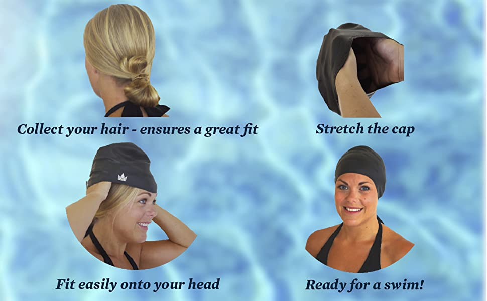 Instructions to fit the swim cap