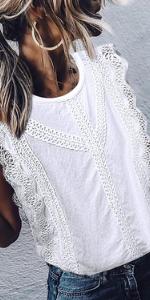 white lace t shirt