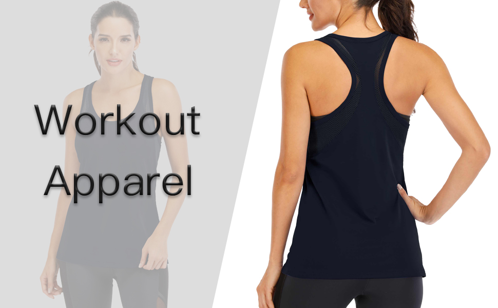 LVNES Women Workout Tops Mesh Backless Tank Running Tank Tops Loose fit Yoga Tank Tops