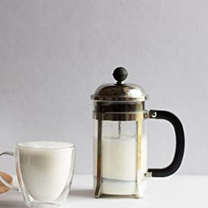 InstaCuppa French Press Coffee Maker for Frothing Milk and Butter Milk