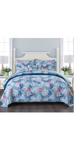 tropical bedspread quilt set