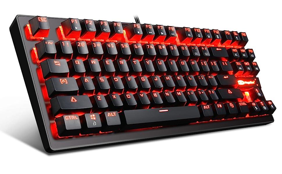 MK1 RED LED Backlit Mechanical Keyboards
