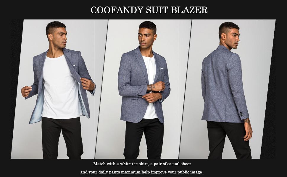 COOFANDY Men Casual Sportcoats Blazer Lightweight Lapel Suit Blazer Jackets