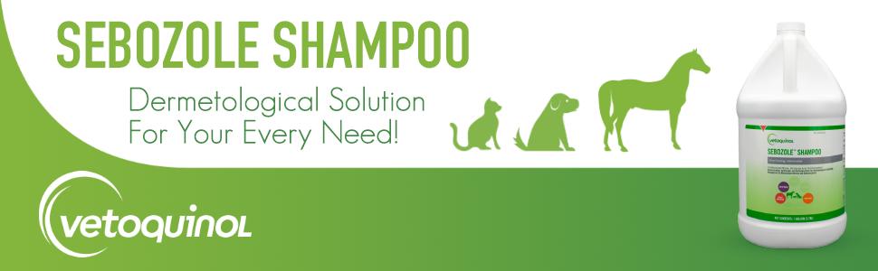 Sebozole Medicated Dog Shampoo w/Active Ingredients - Miconazole Nitrate 2% amp; Chloroxylenol 1%
