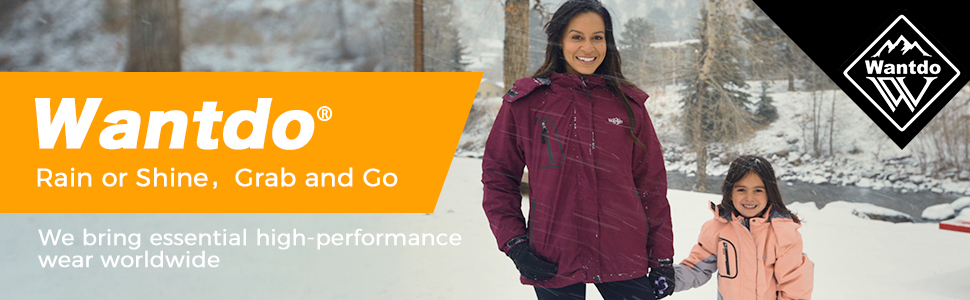 Wantdo Womens Waterproof Fleece Ski Jacket