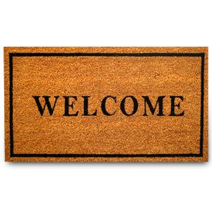 welcome coir doormat