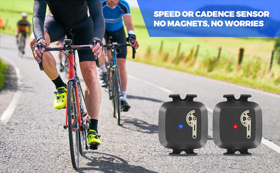 CooSpo Cadence Sensor Bike Speed Sensor Cycling RPM Sensor with Bluetooth 4.0