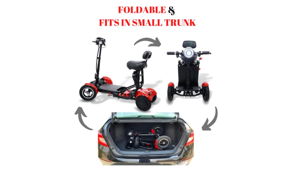 Folding Mobility Scooter for Adults