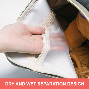 Dry and wet separation in Motherly Diaper Bag