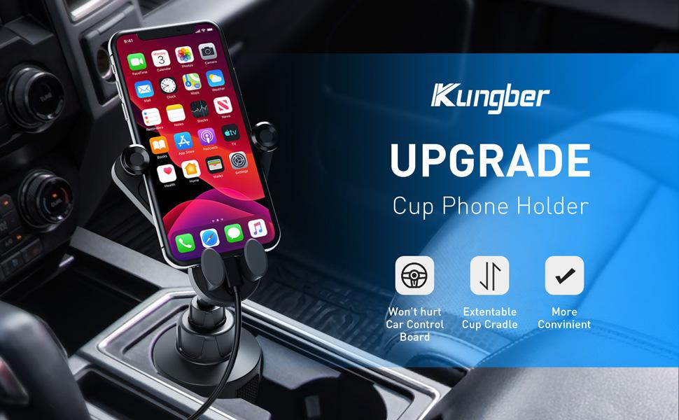 Kungber Cup Holder Phone Mount