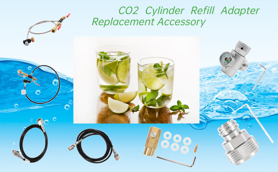CO2 cylinder refill adapter