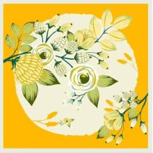 foulard petit carré cou sac cheveux enfant plissé cou pour offrir fleur soie sauvage orange dore