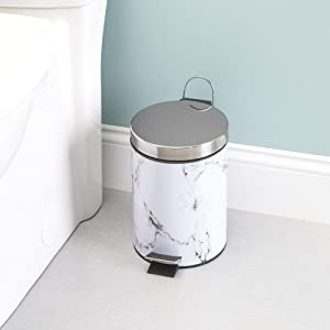 stainless steel garbage can, waste paper basket, recycling bins for home, kitchen waste bins