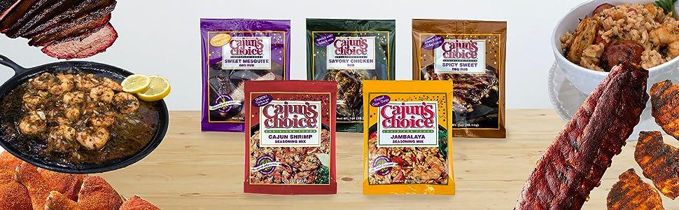 Cajun's Choice Rubs and Mixes