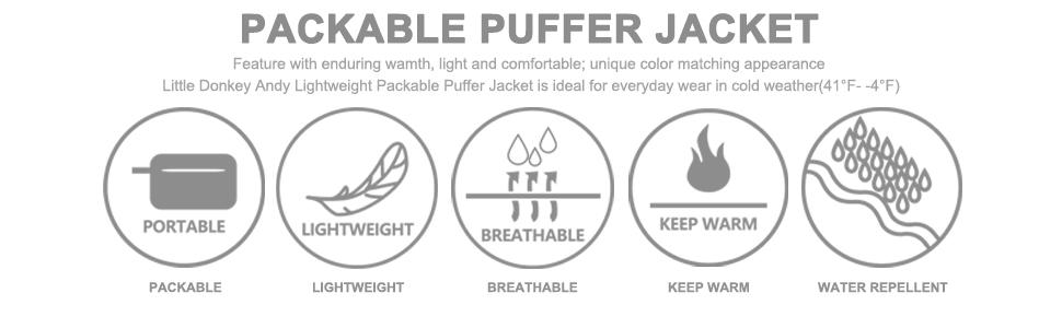 mens lightweight packable puffer jacket