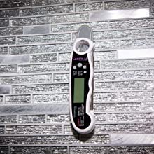 Meat thermometer internal magnet large hang hole stored the refrigerator  hang up kitchen hooks