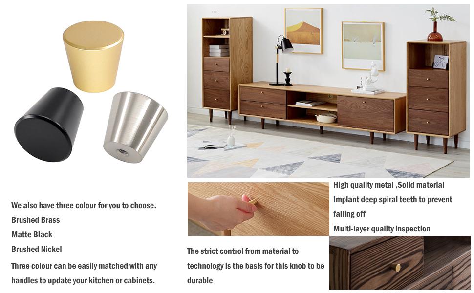 Kitchen Cabinet knobs Dresser Drawer knobs Circular Cone Shape Knobs knobs for bathroom cabinets