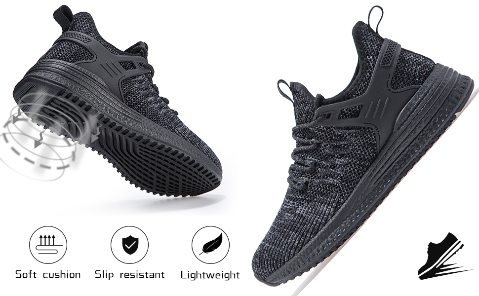 womens running shoes black workout sneakers for women gym lightweight cute cushioned non slip shoes