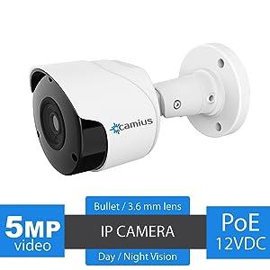 5mp Camius poe bullet camera