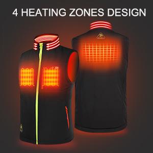4 heated zones