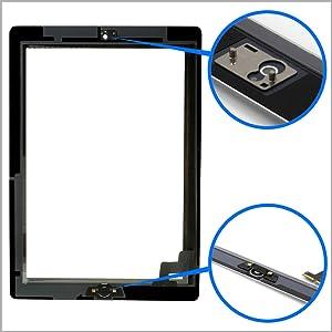 MMOBIEL Digitalizador Compatible con iPad 2 (Negro) Ensamble Pantalla táctil Frontal 9.7 pulg. 2011 Incl. Kit de htas.