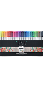 Dual Nib Permanent Fabric Markers Pack Of 6 Stationery Island Fabric Pens