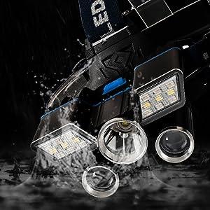 Aluminum alloy headlight, IPX5 waterproof