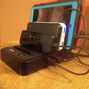 fast charger station multi port