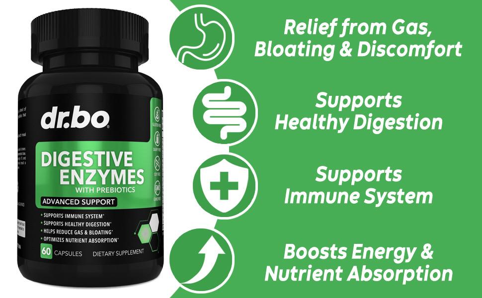 dr bo amylase lipase bromelain amilasa bromelina y lipasa producto daily enzymes pills relief gas