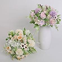 artifiicial purple flowers bouquet for home decor