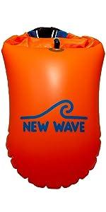 New Wave Swim Buoy 20L emergency device triathlon bag swimming safety buoy swim buoy with dry bag