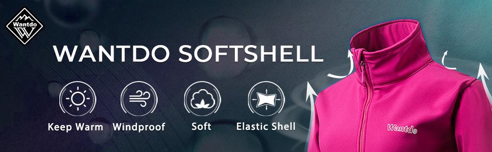 Wantdo Women's Windproof Soft Shell Jacket