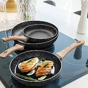 nonstick pan set
